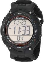 Armitron Men's 408159BLK Sport Chronograph Black Strap Digital Display Watch