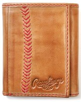 Rawlings Sports Accessories Men's Baseball Stitch Wallet - Brown