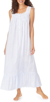 Eileen West Lace Trim Cotton Nightgown