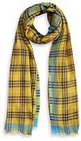 Burberry Check Wool & Silk Scarf