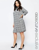 Asos Shirt Dress in Sketchy Check Print