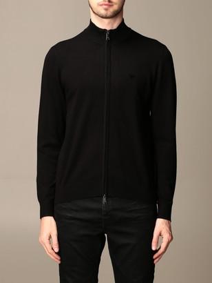 Emporio Armani Sweater Cardigan In Viscose Blend
