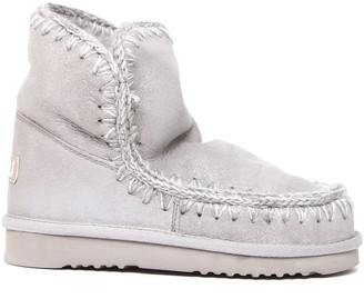 Mou Eskimo 18 Light Grey Leather Ankle Boots
