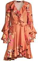 PatBO Carmen Floral Ruffle Wrap Dress