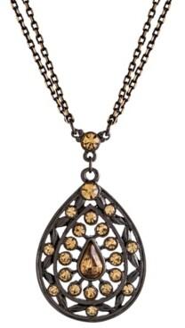 2028 Black-Tone Colorado Teardrop Necklace