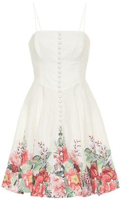 Zimmermann Bellitude linen strapless minidress