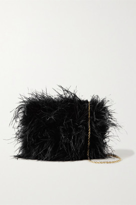 Loeffler Randall Zelda Feather Shoulder Bag - Black