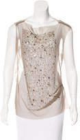 Gary Graham Silk Embellished Top