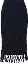 Rosetta Getty Crocheted cotton-blend skirt