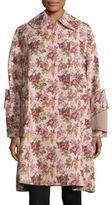 Comme des Garcons Floral Jacquard Double-Breasted Coat