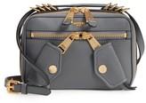 Moschino Grainy-B Leather Camera Bag - Grey