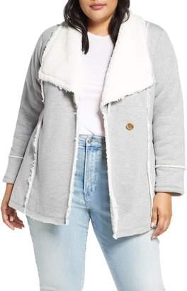 Caslon Faux Shearling Lined Knit Jacket
