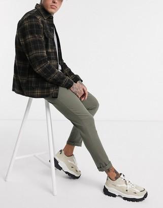 Asos Design DESIGN super skinny ankle grazer chinos in khaki