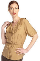 George Simonton As Is Elbow Sleeve Blouse with Belt