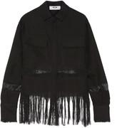 MSGM Fringed linen shirt