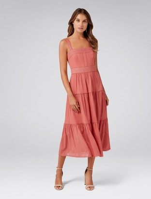 Forever New Georgina Square Neck Maxi Dress - Tangerine - 6
