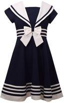 Bonnie Jean Girls 7-16 Nautical Collar Poplin Dress