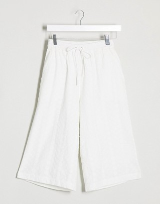 NATIVE YOUTH relaxed bermuda shorts in broderie co-ord