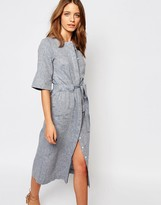 Warehouse Linen Midi Dress