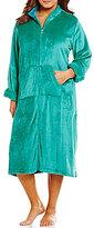 Miss Elaine Plus French Fleece Zip-Front Robe