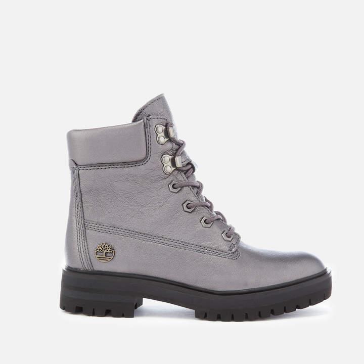 d7b80a20c5b53 Women's Metallic London Square 6 Inch Boots - Dark Grey Akita