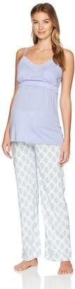 Belabumbum Women's Violette Maternity and Nursing Cami/Pant Pajama Set Extra Large