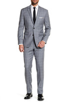 Vince Camuto Light Gray Notch Lapel Two Button Slim Fit Wool Suit