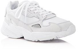adidas Women's Falcon Suede & Leather Lace Up Sneakers