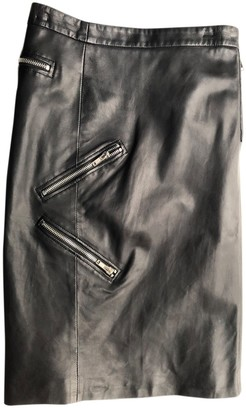 Band Of Outsiders Black Leather Skirt for Women