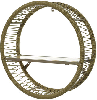 A by AMARA Outdoors - Outdoor Wicker Circular Shelf - Taupe