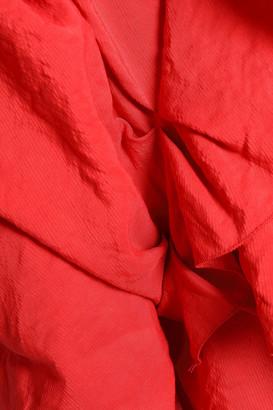CARMEN MARCH Ruffled Crinkled-woven Blouse