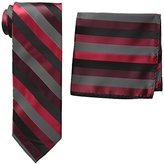 Stacy Adams Men's Tall-Plus-Size Microfiber Stripped Tie Set Extra Long