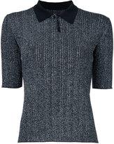 Le Ciel Bleu knitted polo top - women - Nylon/Polyester/Polyurethane/Rayon - 36
