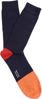 Paul Smith Contrast-trim cotton-blend socks