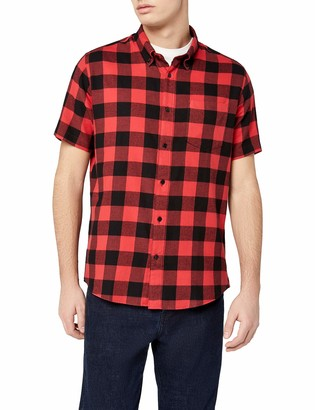 Find. Amazon Brand Men's Brushed Flannel Check Short Sleeve Shirt