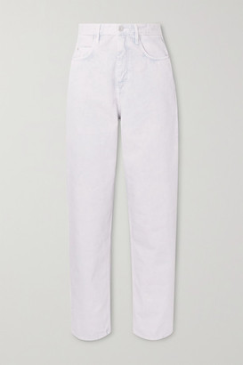 Etoile Isabel Marant Corsy High-rise Tapered Jeans - Light denim