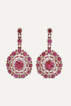 Amrapali 18-karat Rose Gold, Ruby And Diamond Earrings - one size