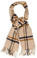 Aquascutum London Cashmere & Wool Stripe Scarf