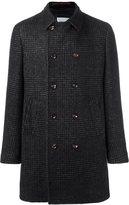 Eleventy plaid double breasted coat - men - Cotton/Polyamide/Modal/Alpaca - 48