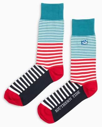 Southern Tide Parasol Stripe Socks
