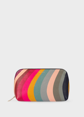 Paul Smith Women's Swirl Print Leather Make-Up Pouch