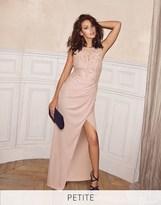 Lipsy Love Michelle Keegan Petite Lace Applique Maxi Dress