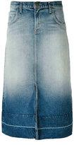Current/Elliott faded denim midi skirt