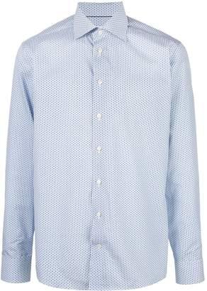 Eton slim fit geometric print shirt