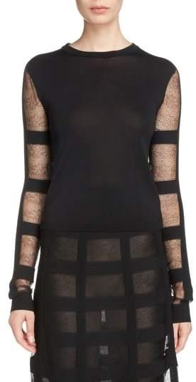 Alexander McQueen Sheer Stripe Sweater