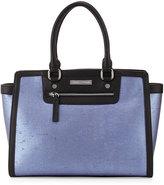 Charles Jourdan Wallis Leather & Cork Tote Bag, Blue