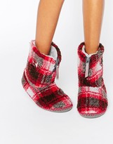 Bedroom Athletics MacGraw Checked Slipper Boot
