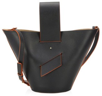 Carolina Santo Domingo Amphora Leather Bucket Bag