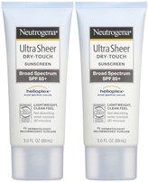 Neutrogena Ultra Sheer Dry-Touch Sunblock SPF 85-3 oz, 2 pack