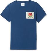 Kent & Curwen Slim-Fit Appliquéd Distressed Cotton-Jersey T-Shirt